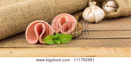 Group Of Baloney Sausage