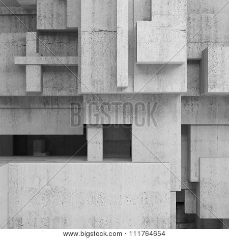 Abstract Concrete Structures, Square Background