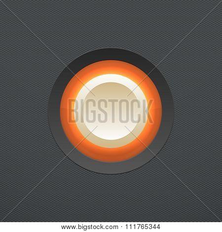 White button. Vector illustration