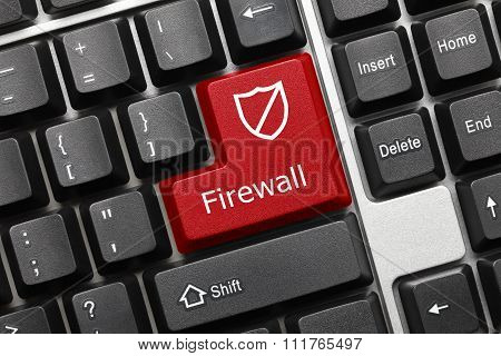 Conceptual Keyboard - Firewall (red Key)