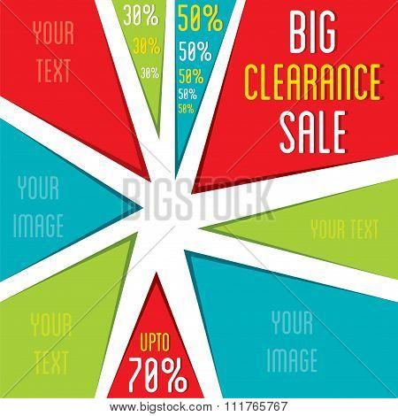 creative big offer discount banner design