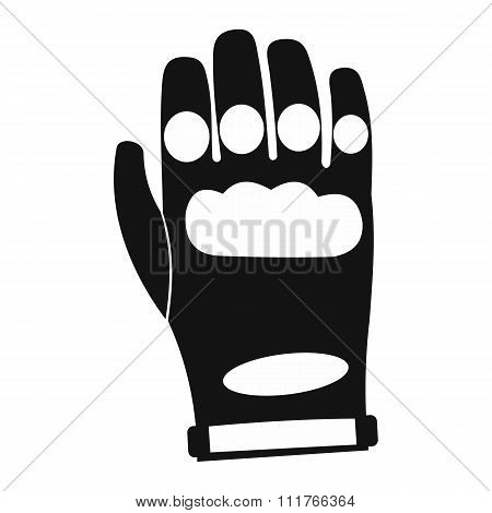 Paintball glove simple icon