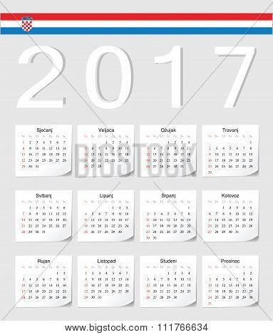 Croatian 2017 Calendar