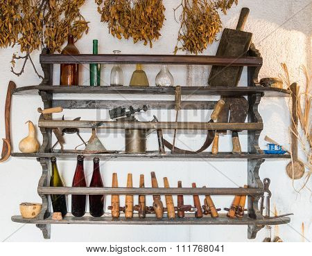 Antique Tools And Household Items