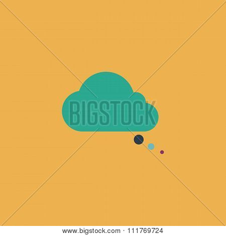 cloud thought Vector icon