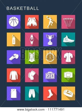 Vector Set Flat Square Icons