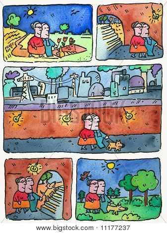 Spaziergang mit dem Hund