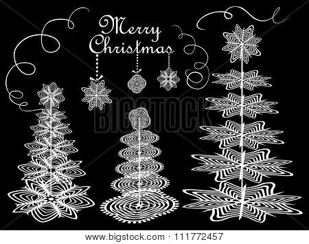 Christmas paper conifers