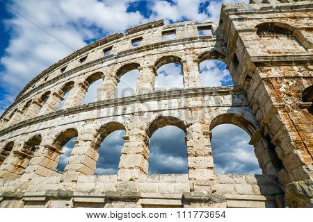 Ancient Amphitheater In Pula Croatia