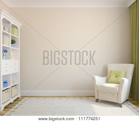 Modern Interior.3d rendering.