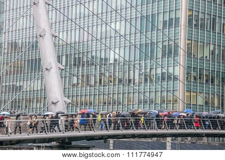 Commuters Walking To Work