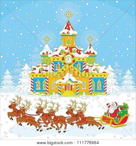 Christmas Sleigh of Santa