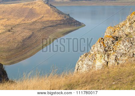 River and cliffs