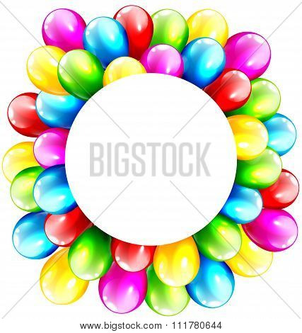 Multicolored Inflatable Celebration Bright Balloons with Circle