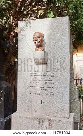 Poet Hanus Jelinek Tomb In Vysehrad Cemetery, Prague