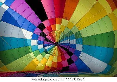 Interior Of A Hot-air Balloon Envelope