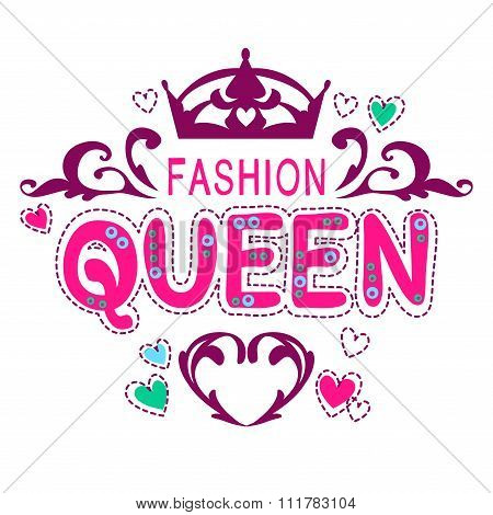 Glamour vector girlish print