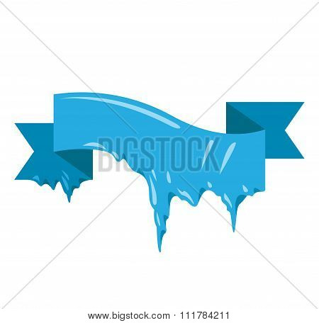 Frozen snow winter vector banner