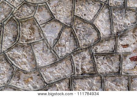 Cellular Texture Cement Or Concrete Stone Surfaces