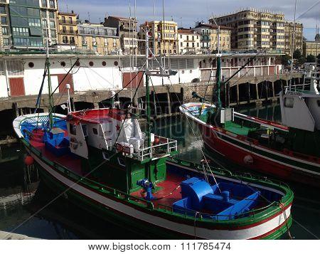San Sebastian harbour, Basque country