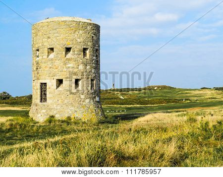 Ancient watchtower on the Guernsey island
