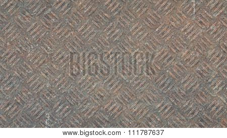 Abstract old rusty knurling mesh panel. Photorealistic texture
