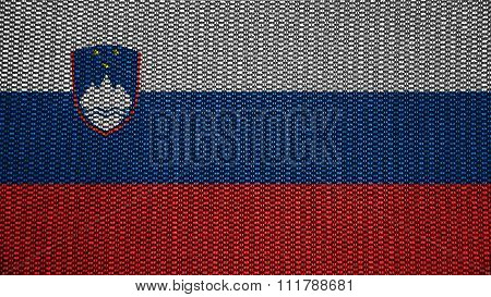 Slovenia flag, Slovenian Flag painted on stitch