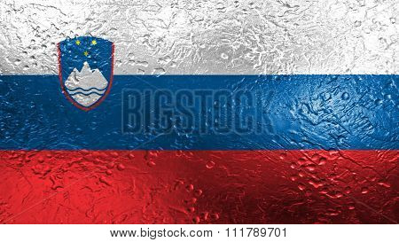 Slovenia flag, Slovenian Flag painted on metal
