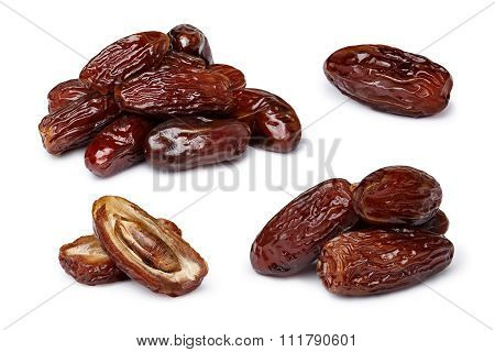 Dried Dates Isolated Set
