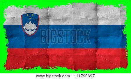 Slovenia flag, Slovenian Flag painted on paper