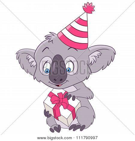 Cute Party Cartoon Koala