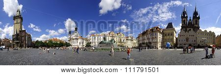 Old Town Square of Prague panorama