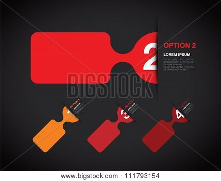 red numbered option background