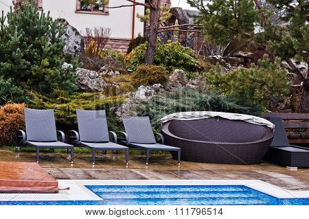 Loungers By The Pool
