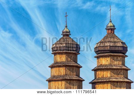 wooden domes of the old church