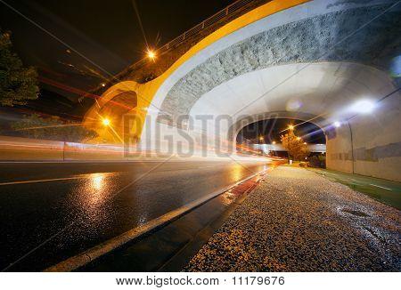 Night urban scene