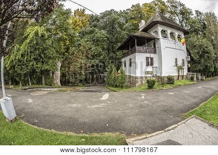TARGU-JIU, ROMANIA-OCTOBER 08: Constantin Brancusi Center  on October 08, 2014 in Targu-Jiu.