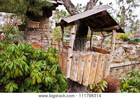 Bird House On Tree. Starling Box