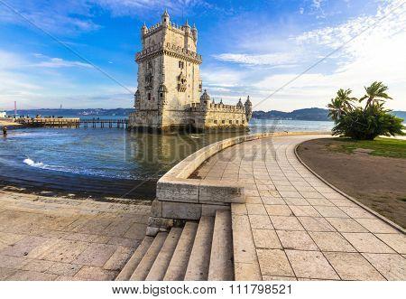 Torre of Belem - famous landmark of Lisbon, Portugal