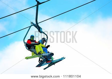 Cableway On Ski Resort