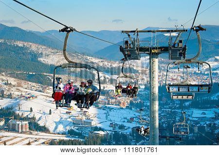 Lift At Ski Resort