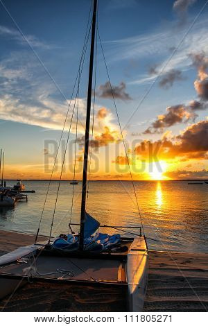 Sunset at the Island of Andros, Bahamas