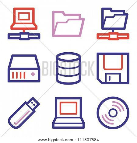 Drive storage web icons