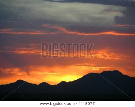 Amazing Mountain Sunset
