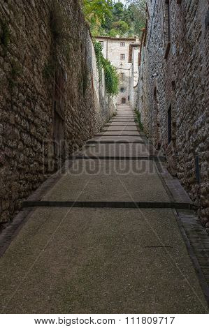 Old Street In Gubbio, Italy