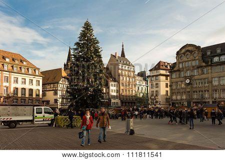 The place Kleber, Strasbourg.