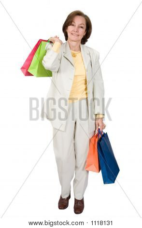 Business Woman Shopping Bags