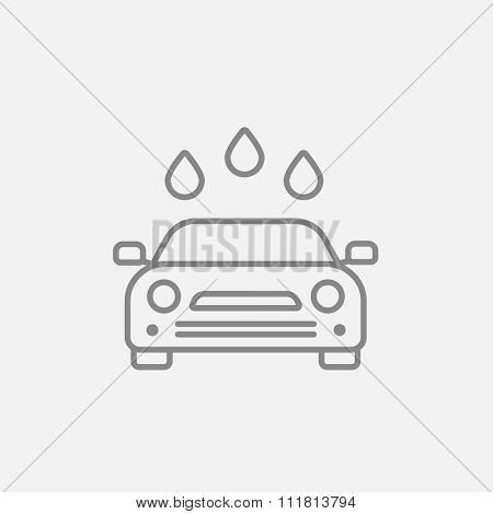 Car wash line icon for web, mobile and infographics. Vector dark grey icon isolated on light grey background.