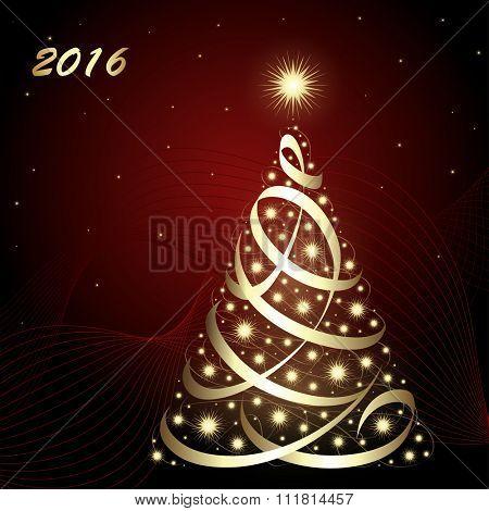 2016 Christmas / New Year card, vector