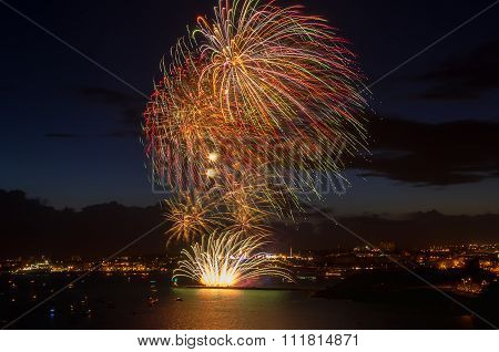 Colorful fireworks.